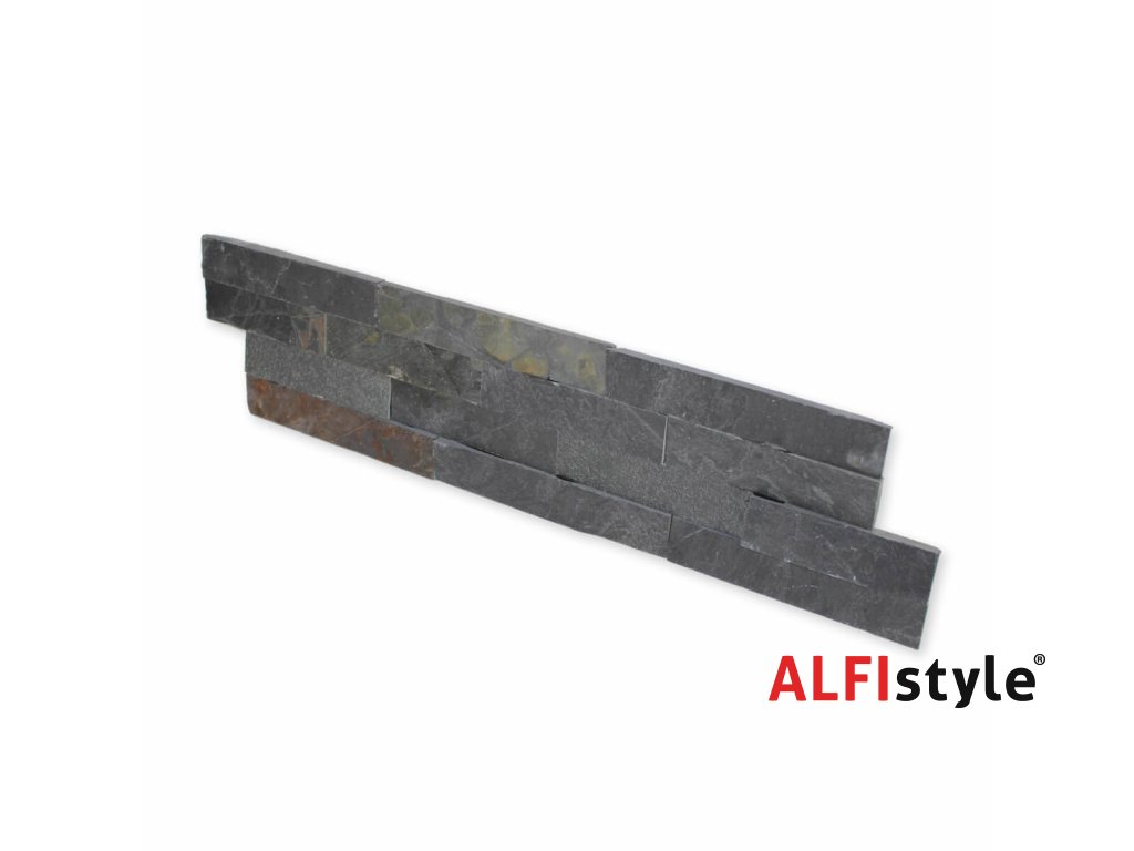 Kamenný obklad, břidlice černá 2, tloušťka 1,5-2,5 cm, ES001 - VZOREK