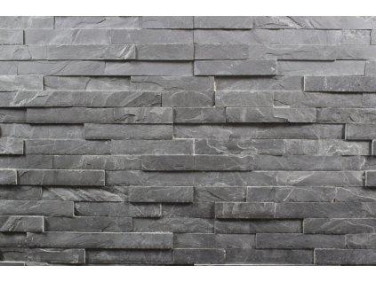 kamenný obklad černá břidlice BL001