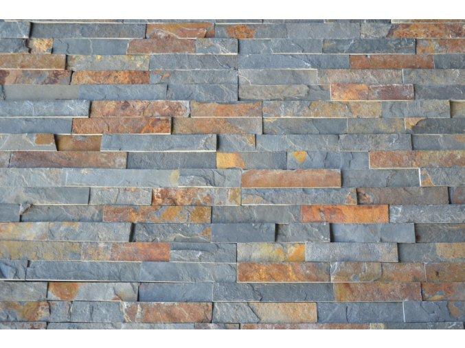 Kamenný obklad, multicolor břidlice, tloušťka 1,5-2,5cm, BL003