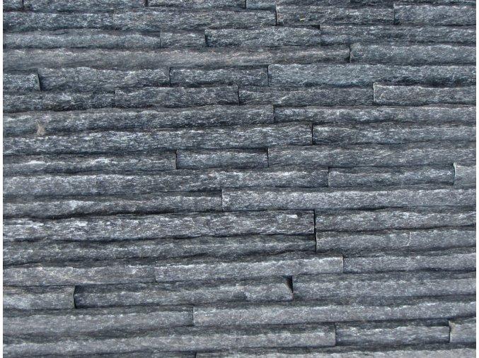 Kamenný obklad, kvarcit ČERNÝ, tloušťka 2-3,5cm, BL007