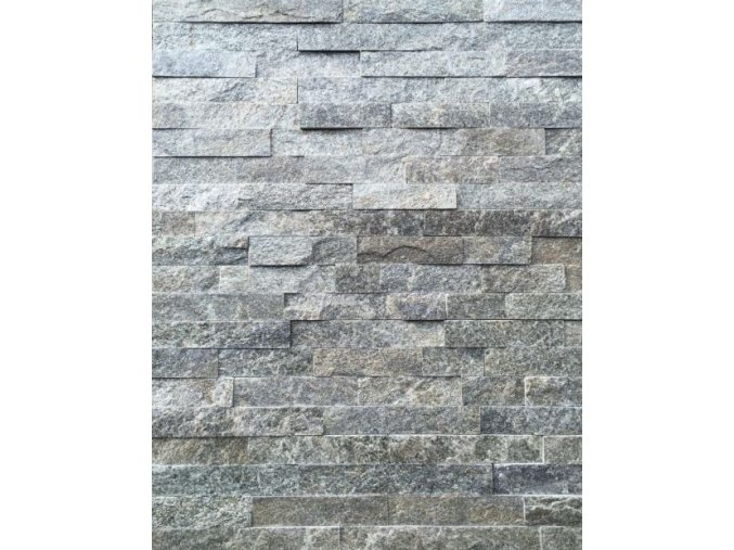 Kamenný obklad, kvarcit ŠEDÝ, tloušťka 1-2cm, BL009