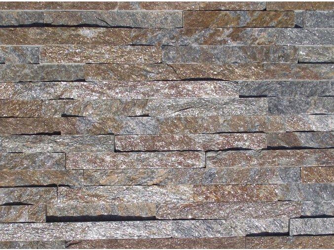 Kamenný obklad, kvarcit RUSTY, tloušťka 1-2cm, BL011