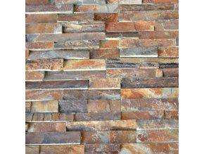 Kamenný obklad, multicolor břidlice, tloušťka 2-3,5cm, BL005