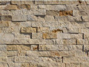 Kamenný obklad, travertin BÉŽOVÝ, tloušťka 2-3cm, BL008